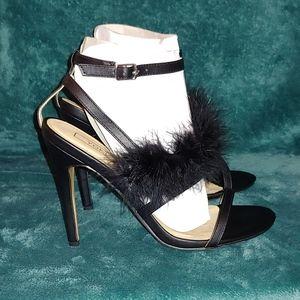 Yoki Trofle Black Feather Dress Sandal